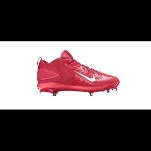 Nike Shoes - Red Nike Trout 3 pro Baseball Cleats 7 1/2